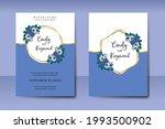wedding invitation watercolor...   Shutterstock .eps vector #1993500902