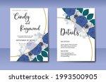 wedding invitation watercolor...   Shutterstock .eps vector #1993500905