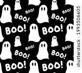 halloween seamless pattern with ... | Shutterstock .eps vector #1993506605