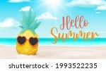 tropical fruit pineapple in...   Shutterstock .eps vector #1993522235