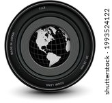 camera photo lens and earth... | Shutterstock .eps vector #1993524122