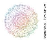 decorative mandala design in... | Shutterstock .eps vector #1993534925
