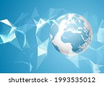 abstract globe background with... | Shutterstock .eps vector #1993535012