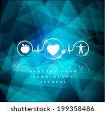 health icons on a bright blue... | Shutterstock .eps vector #199358486