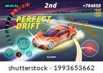 burnout car  game sport car...   Shutterstock .eps vector #1993653662