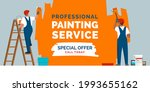 professional painters painting... | Shutterstock .eps vector #1993655162