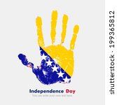 independence day. grungy style. ... | Shutterstock .eps vector #199365812