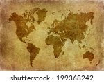 world map grunge background  | Shutterstock . vector #199368242