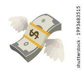 flying money with wings vector... | Shutterstock .eps vector #1993683515
