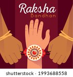 raksha bandhan tradition... | Shutterstock .eps vector #1993688558