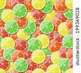 seamless fruit pattern... | Shutterstock .eps vector #199369028
