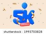 5k followers thank you 3d blue...   Shutterstock .eps vector #1993703828