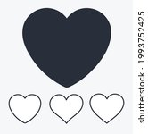 collection of four hearts ... | Shutterstock .eps vector #1993752425
