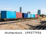 container wagon near the center ...   Shutterstock . vector #199377956