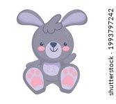 cute little rabbit stuffed toy...   Shutterstock .eps vector #1993797242