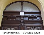 Old Wooden Door Of A Building