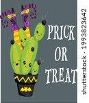 cactus halloween quotes costume ... | Shutterstock .eps vector #1993823642