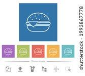 single cheeseburger flat white... | Shutterstock .eps vector #1993867778