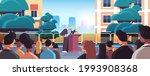 mayor with key giving speech... | Shutterstock .eps vector #1993908368