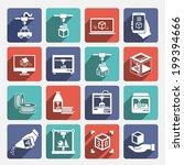 printer 3d graphic... | Shutterstock .eps vector #199394666