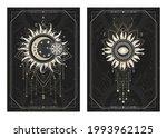 vector dark illustrations with... | Shutterstock .eps vector #1993962125