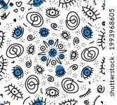 seamless pattern of amulets... | Shutterstock .eps vector #1993968605