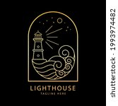 lighthouse logo with ocean wave ...   Shutterstock .eps vector #1993974482