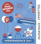 happy independence day vector... | Shutterstock .eps vector #199397702