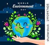world environment day. hand...   Shutterstock .eps vector #1993997405