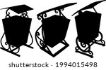 openwork trash cans in the set. ...   Shutterstock .eps vector #1994015498