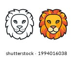 cartoon lion head  color and...   Shutterstock .eps vector #1994016038