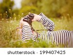 young child using a pair of... | Shutterstock . vector #199407425