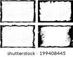 grunge frame set. vector...   Shutterstock .eps vector #199408445