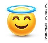 Angel Emoji. Holy Emoticon With ...