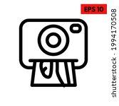 illustration of camera line icon | Shutterstock .eps vector #1994170508