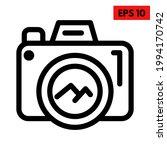 illustration of camera line icon | Shutterstock .eps vector #1994170742