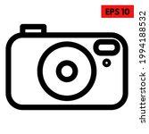 illustration of camera line icon | Shutterstock .eps vector #1994188532