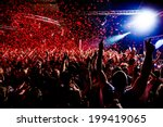 nightclub party clubbers with... | Shutterstock . vector #199419065