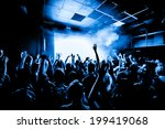 nightclub party crowd with... | Shutterstock . vector #199419068