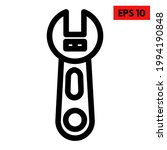 illustration of wrench line icon | Shutterstock .eps vector #1994190848