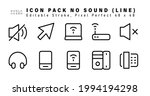 icon set of no sound line icons.... | Shutterstock .eps vector #1994194298