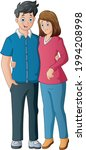 romantic couple stand and...   Shutterstock .eps vector #1994208998