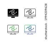molecule formula in monitor... | Shutterstock .eps vector #1994209628