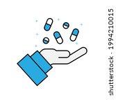 drug icon on white background.... | Shutterstock .eps vector #1994210015