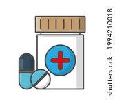drug icon on white background.... | Shutterstock .eps vector #1994210018