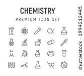 premium pack of chemistry line... | Shutterstock .eps vector #1994212445