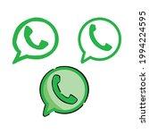 cellphone hotline phone  logo... | Shutterstock .eps vector #1994224595