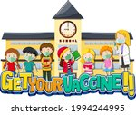 get your vaccine font with many ... | Shutterstock .eps vector #1994244995