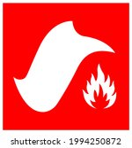 fire blanket symbol sign ...   Shutterstock .eps vector #1994250872