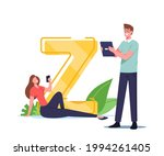 tiny characters with gen z... | Shutterstock .eps vector #1994261405